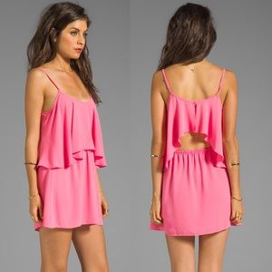 Lovers + Friends Draped Sunkissed Dress in Pink